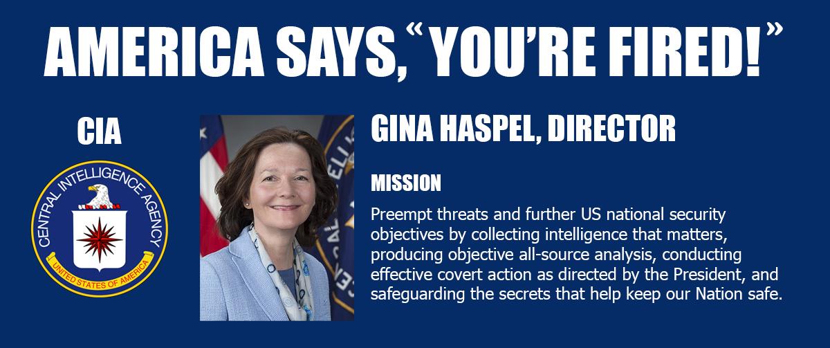 Haspel Fired