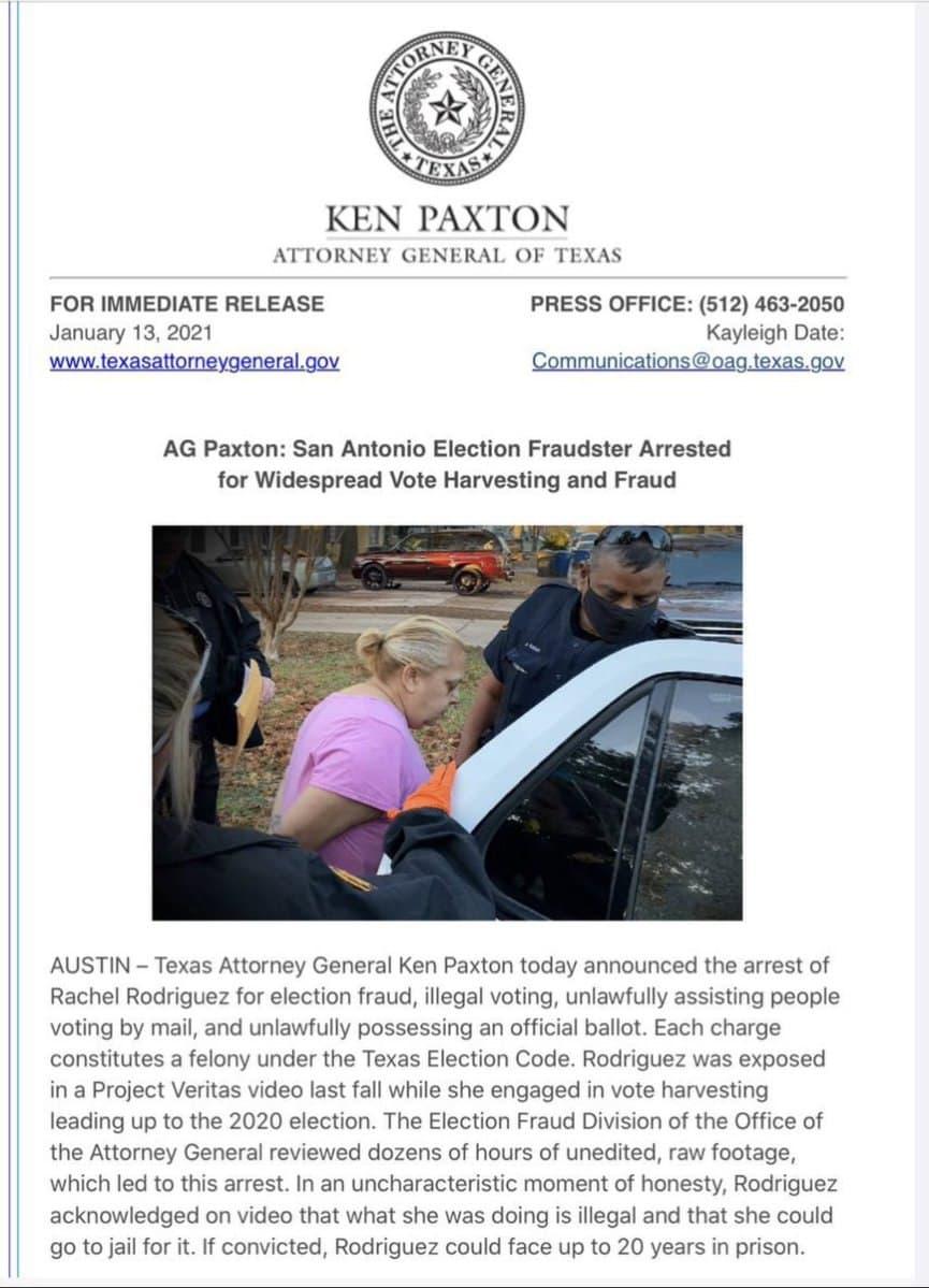 Rachel Rodriguez Texas Election Fraud
